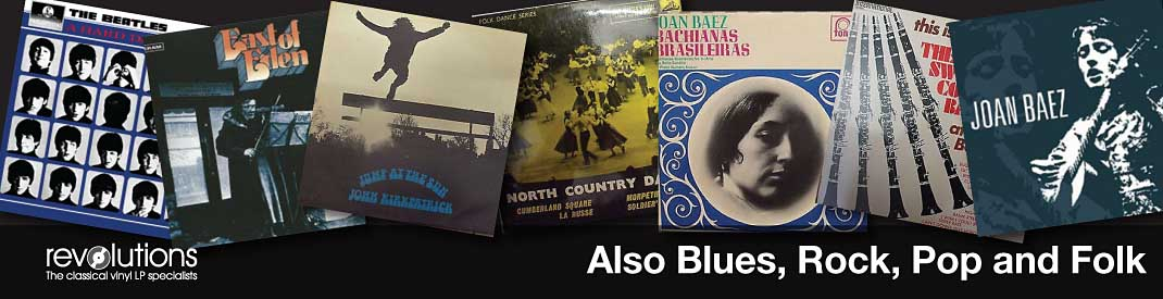 Revolutions records worthing, west sussex we buy classical LPs also blues, jazz, rock, pop