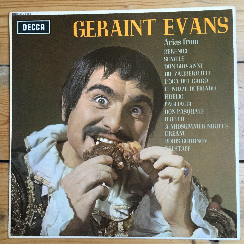 Decca LP record SXL Geraint Evans
