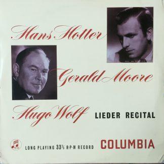 33CX 1162 Hugo Wolf Lieder Recital / Hans Hotter / Gerald Moore B/G