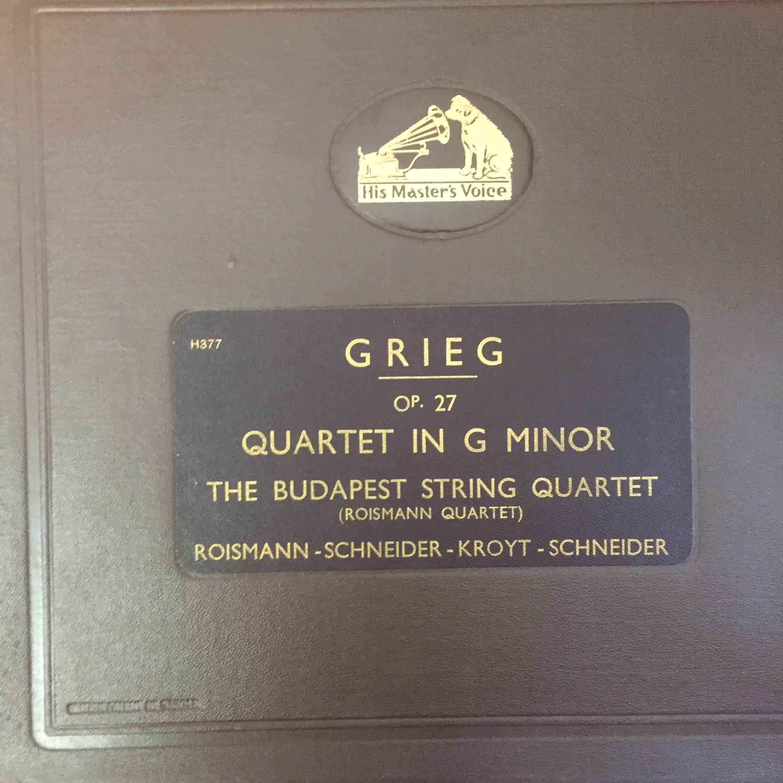 DB 3135-38 Grieg Quartet in G minor / Budapest Quartet