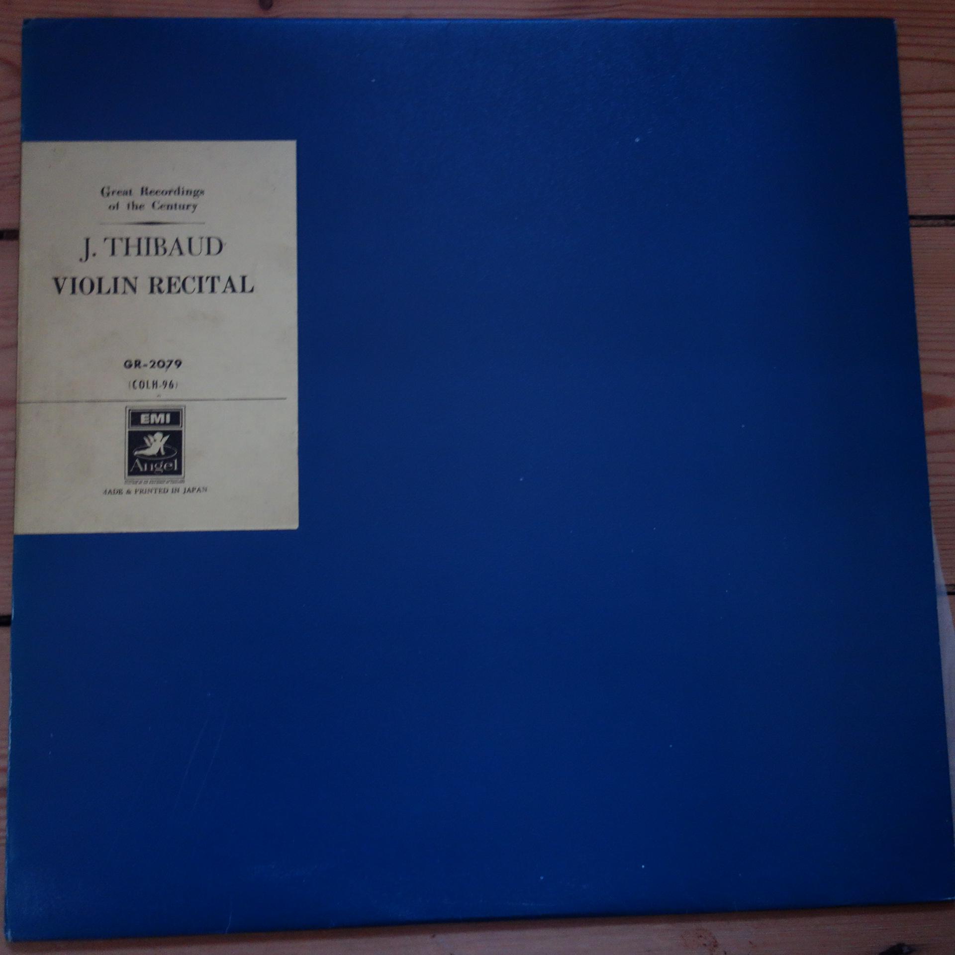 GR 2079 Jacques Thibaud Violin Recital