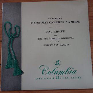 33C 1001 Schumann Piano Concerto in A min / Dinu Lipatti / Karajan