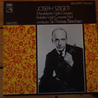 HLM 7016 Mendelssohn / Prokofiev Violin Concertos / Josef Szigeti