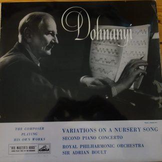 ALP 1514 Dohnanyi Variations / 2nd Piano Concerto / Dohnanyi R/G
