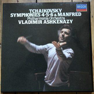 D249D 4 Tchaikovsky Symphonies 4, 5 & 6 / Manfred / Ashkenazy 4 LP box