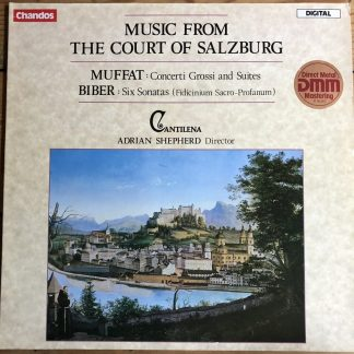 DBRD 2009 Music from the Court of Salzburg / Shepherd / Cantilena 2 LP set