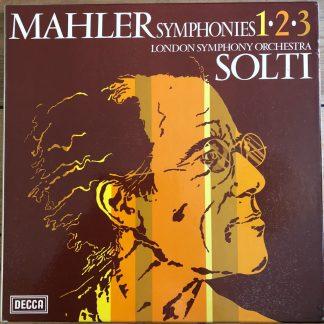 7BB 173/177 Mahler Symphonies 1, 2 & 3 / Solti 5 LP box set