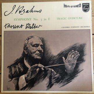 SABL 183 Brahms Symphony No. 3 / BrunoWalter
