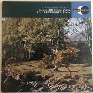 ECS 585 A Paganini recital / Ricci / Persinger