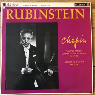 SB 2151 Chopin Piano Sonatas 2 & 3 / Rubinstein GROOVED R/S