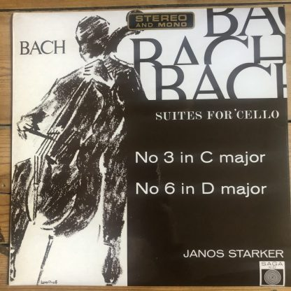 XID 5161 Bach Suites For Unaccompanied Cello Nos. 3 & 6 / Janos Starker