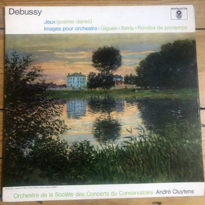 ST 910 Debussy Jeux / Images / Cluytens / Paris Conservatoire Orchestra