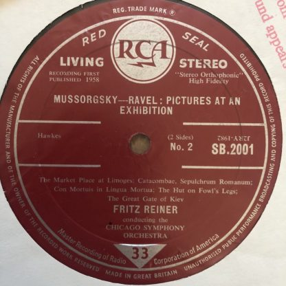 SB 2001 Mussorgsky Pictures at an Exhibition / Reiner