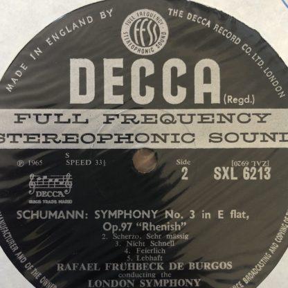 SXL 6213 Schumann Sym No. 3 Mendelssohn A Midsummer Night's Dream