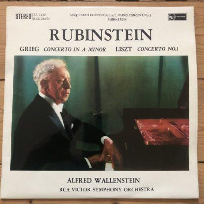 B 2112 Greig & Liszt Piano Concertos Artur Rubinstein O/S