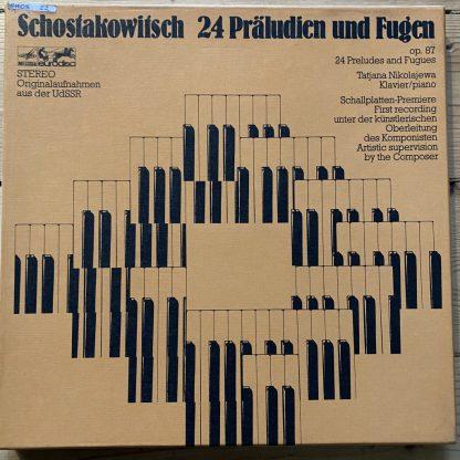 86 199 XGK Shostakovich 24 Preludes & Fugues / Tatjana Nikolajewa