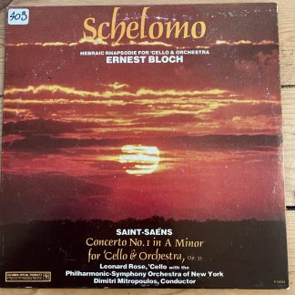 P 14167 Bloch Schelomo / Saint-Saëns Cello Concerto No.1