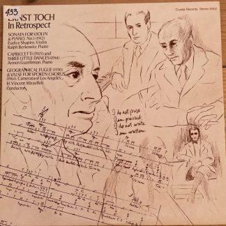 S502 Ernst Toch in Retrospect Violin Sonata,