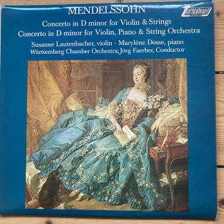 TV 34662S Mendelssohn Violin Concerto, etc. / Susanne Lautenbacher / Faerber