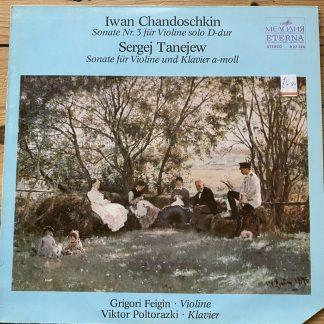 8 27 324 Chandoschkin / Tanejew Violin Sonatas