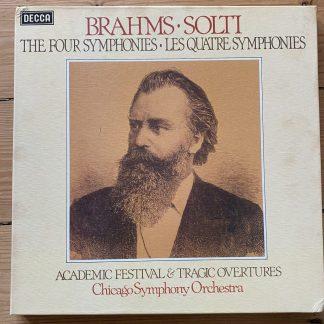 D151D 4 Brahms The Four Symphonies / Solti / CSO 4 LP box