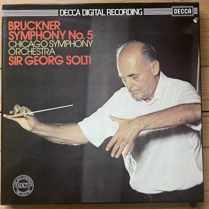 D221D 2 Bruckner Symphony No. 5 / Solti / CSO 2 LP box