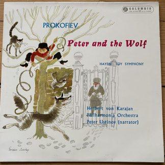 33CX 1559 Prokofiev Peter & the Wolf / Haydn Toy Symphony / Karajan / Ustinov B/G