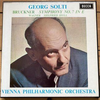 SET 323-4 Bruckner Symphony No. 7 / Wagner Siegfried Idyll / Solti VPO 2 LP box