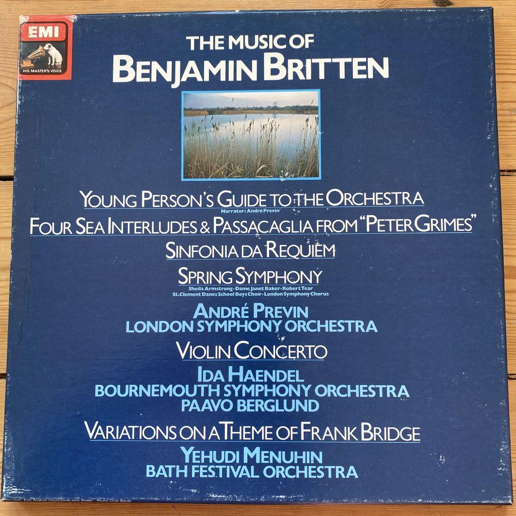 SLS 5266 The Music of Benjamin Britten / Previn / Haendel / Menuhin 3 LP box