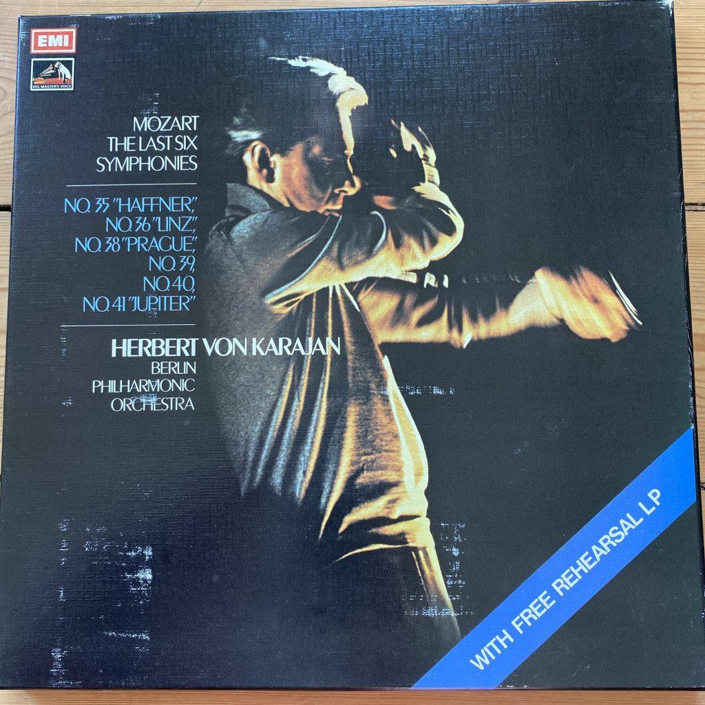 SLS 809 Mozart The Last Six Symphonies / Karajan 4 LP box