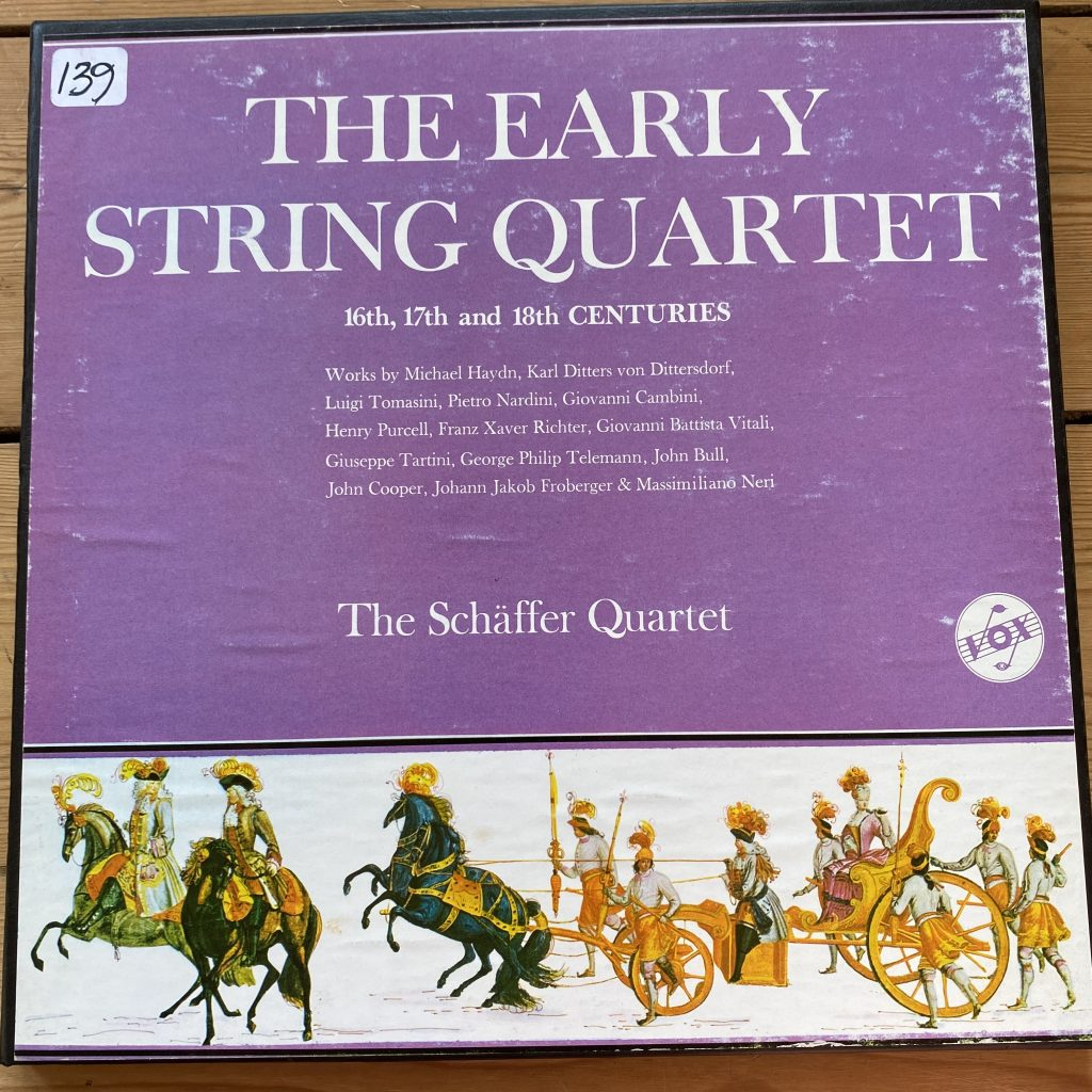 SVBX 5300 The Early String Quartet in Europe / Schaffer Quartet