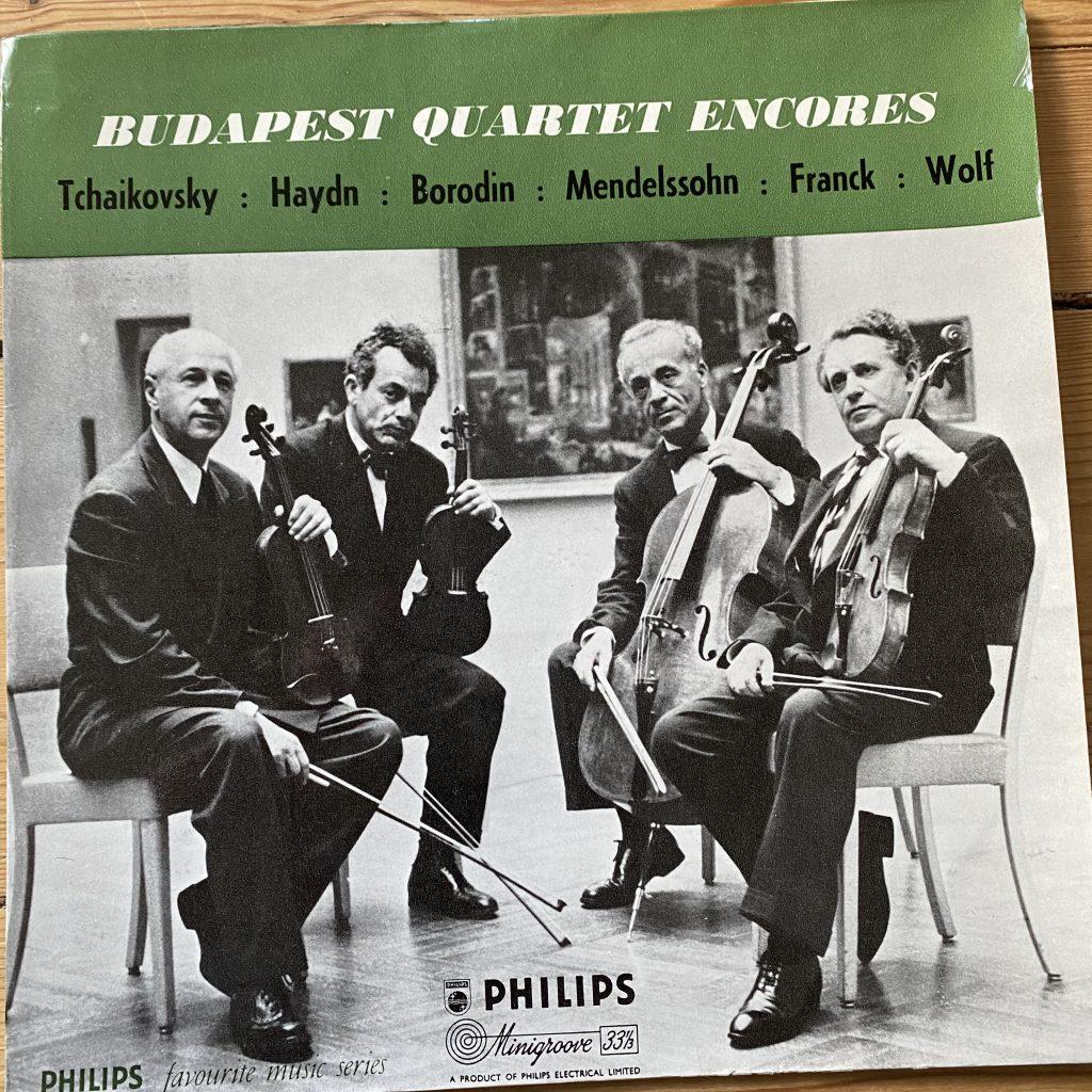 """SBR 6237 Budapest Quartet Encores 10"""""""
