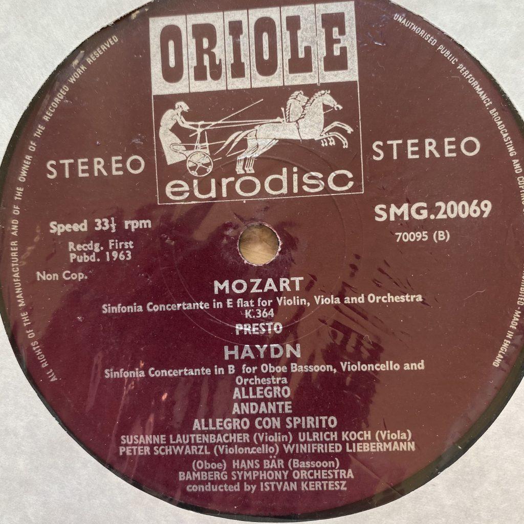 SMG 20069 Mozart / Haydn Sinfonia Concertante / Lautenbacher etc.