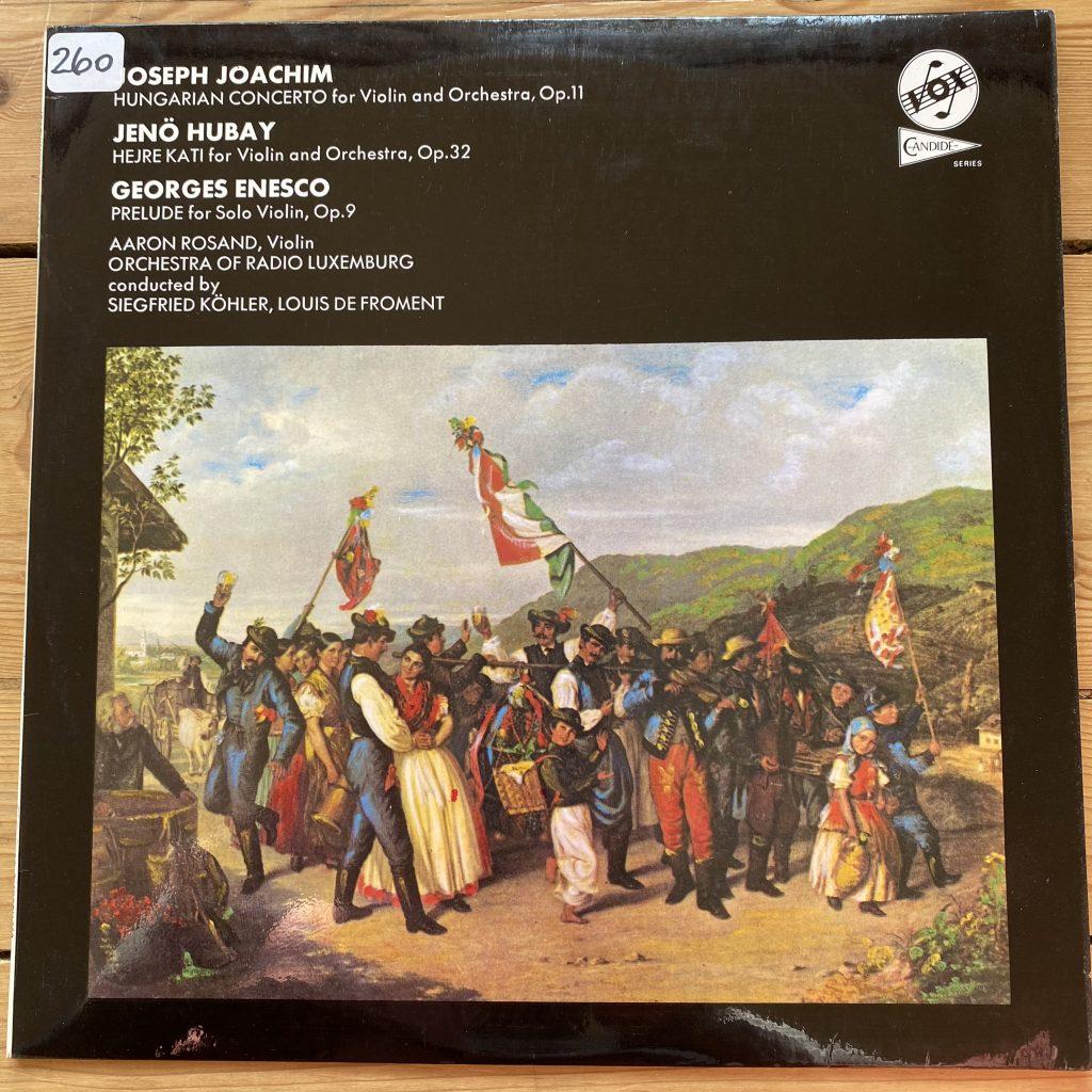 STGBY 668 Joachim Hungarian Concerto etc. / Rosand / Kohler / de Froment