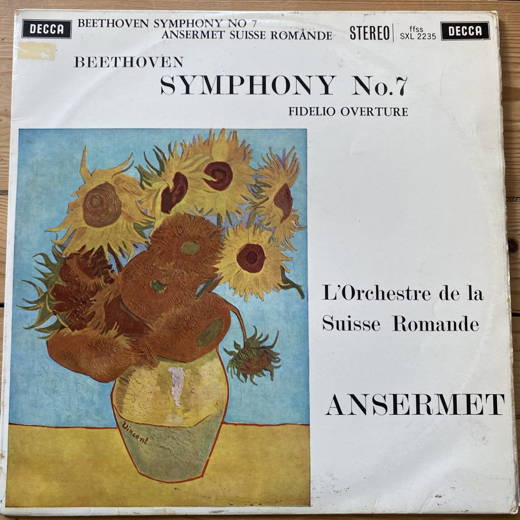 SXL 2235 Beethoven Symphony No.7 & Fidelio Overture L'OSR Ansermet