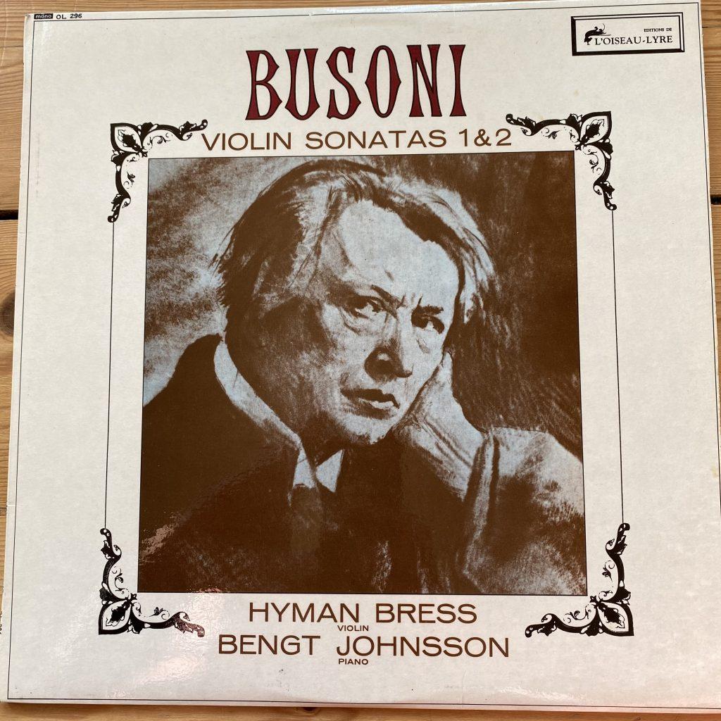 OL 296 Busoni Violin Sonatas Nos. 1 & 2