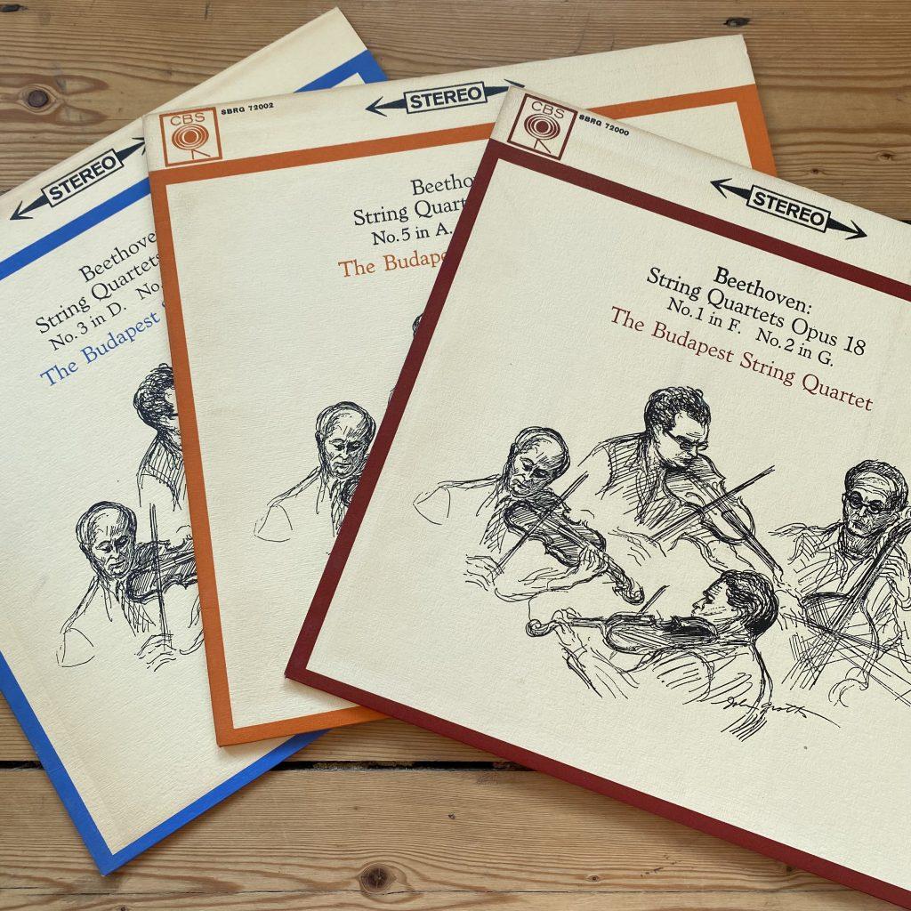 SBRG 7200/02 Beethoven String Quartets Op. 18 1-6 / Budapest Quartet 3 LP set