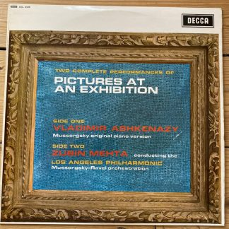 SXL 6328 Mussorgsky Pictures at an Exhibition / Ashkenazy / Mehta 2 performances W/B