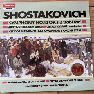 ABRD 1248 Shostakovich Symphony No. 13 / Kamu / CBSO, etc