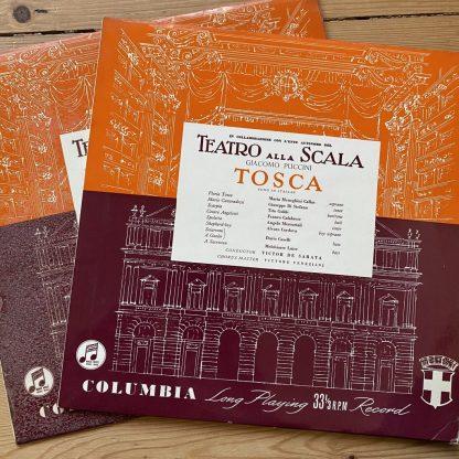 33CX 1094/5 Puccini Tosca / Callas etc. / De Sabata B/G 2 LP set
