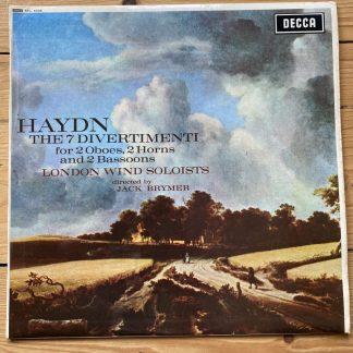 SXL 6338 Haydn 7 Divertimenti / London Wind Soloists / Brymer W/B