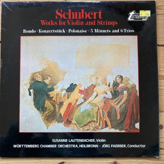 TVS 34729 Schubert Works for Violin and Strings / Susanne Lautenbacher / Faerber