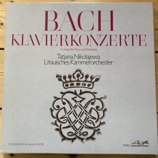 26736 XFK Bach Piano Concertos / Tatjana Nikolajewa 4 LP box
