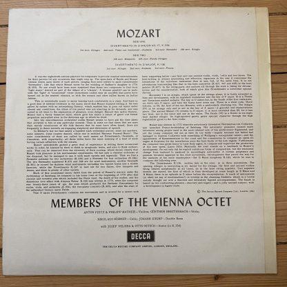 SXL 2290 Mozart Divertimenti / Vienna Octet Members W/B