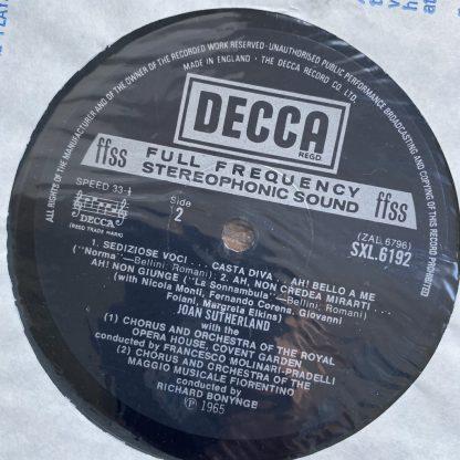 SXL 6192 Joan Sutherland Sings Bellini