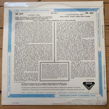 SXL 2037 Bizet Carmen / L'Arlesienne Suites / Ansermet W/B BBB
