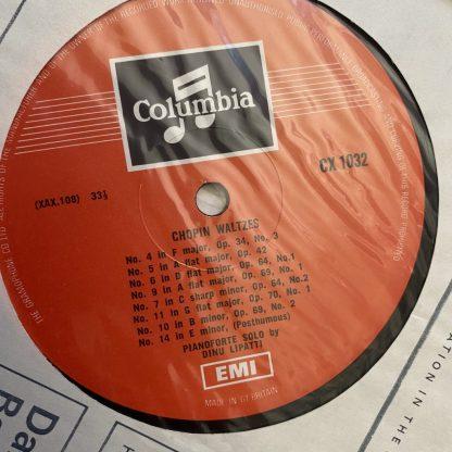 33CX 1032 Chopin Waltzes Dinu Lipatti