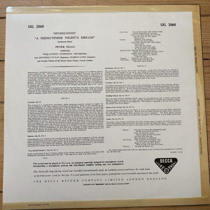 SXL 2060 Mendelssohn Midsummer Night's Dream / Maag W/B