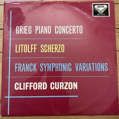 SXL 2173 Grieg Piano Concerto / Little / Franck / Curzon W/B