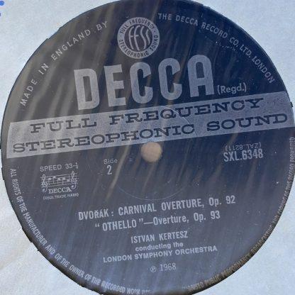 SXL 6348 Dvorak Concert Overtures / Kertesz